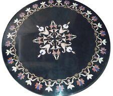 "30"" Marble Handmade Dining Center Table Top Semi Precious Stone Carnelian"