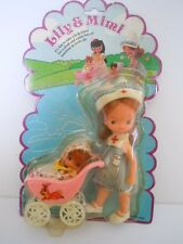 "1970'S KIDDLE KLONE BABY IN STROLLER+ BETSEY CLARK CLONE NURSE DOLL"" LILY & MIMI"