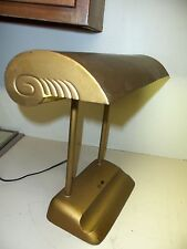 Vintage Piano Banker Desk Student Lamp Metal Art Deco Industrial