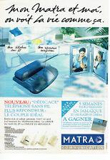 Publicité Advertising  078  1993  téléphone sans fil Dédicace Matra communicatio