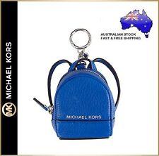 Michael Kors MK Rhea Leather Mini Backpack Bag Charm Key ring chain Coin Purse