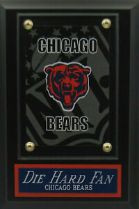 DIE HARD FAN CHICAGO DA BEARS LOGO CARD PLAQUE FOR YOUR MAN CAVE WALL DECOR