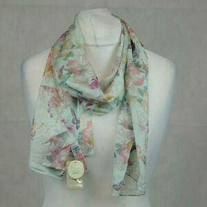 Accessorize Floral Butterfly 100% Silk Scarf CR017 CC 15