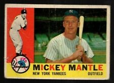 MICKEY MANTLE 1960 Topps #350 ~ New York Yankees Hall of Fame ~ Poor Condition