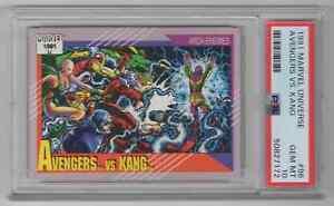1991 Marvel Universe #96 Avengers vs. Kang - PSA 10 GEM MT - NEWLY GRADED