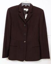 NWT Calvin Klein Collection Women's Sz 6 Stylish Couture 100% Wool Brown Blazer