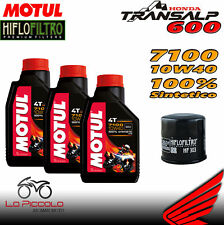 TAGLIANDO 3 L OLIO MOTUL 7100 10W40 + FILTRO OLIO HONDA XL 600 TRANSALP 2000