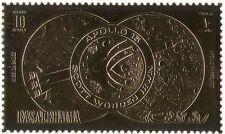 RAS AL KHAIMA GOLD APOLLO 15/spazio/Rocket/luna/astronauti 1v S/A (b4152)