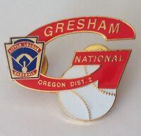 Gresham National Oregon Little League Baseball Badge Pin Rare Vintage (N16)