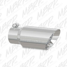 MBRP T5156 304 SS Round Angle Cut Clamp-On Double-Wall Polished Exhaust Tip