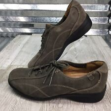 Unstructured Clarks Suede Leather Sage Green Derby Comfort Bicycle Toe Size 7.5
