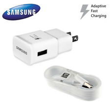 OEM Samsung Galaxy S7 S6 Note 4 5 Fast Charging Wall Charger+ 5 Ft Cable