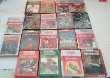 18 BRAND NEW Atari 2600 Games Stargate, Solaris, Crossbow, Street Racer, Tennis