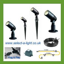 Techmar Garden Spot Lights ALDER (4 Set) Plug & Play System