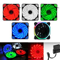 120mm DC 15 LED Cooling Case Fan for PC Computer Quiet Edition CPU Cooler