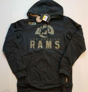 Nike Los Angeles Rams Therma Salute to Service Hoodie Black Men's Sz S NKDY-00A