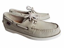 Sebago Docksides Men's Boat Shoes, B720047, Ivory, UK 6.5 / EU 40