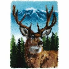 """Caron Classic Collection Latch Hook Rug Making Kit """"a Deer"""" 20inch X 30inch"""