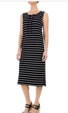 Paraphrase French Terry Striped Cotton Spandex Dress Sleeveless For Women NWT 10