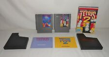 Nintendo Entertainment System NES Games Tetris and Tetris 2 in the box