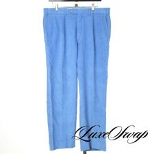 DANDY Vero Uomo Made in Italy Peacock Blue Micro Wale Corduroy Pants Trousers 34