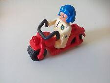 Vintage figura Lego Duplo Hombre en moto, motorista. Motor Bike