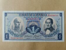 Elbanco De La Republica Banknote 1 Peso 1970 (aUNC) : 54279717