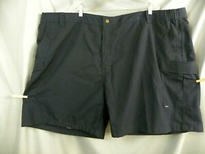"Men's Tru-Spec Size (56) Blk Tactical Cargo Shorts Rip Stop  Inseam 9"""