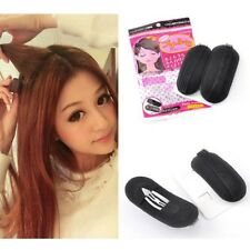 2 x Hair Puffs Sponge Clips Hair Booster Volume Invisible Teasing Effect Bump Up