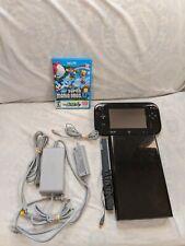 Nintendo Wii U 32 Gb Black With Gamepad And 2 Games (Read Description)