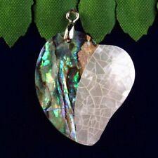 Pendant Bead 32x22x3mm L33425 Natural Abalone Shell Heart