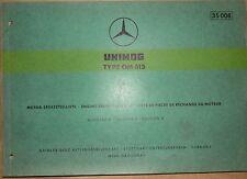 Mercedes Type OM 615 Motor-Ersatzteilliste