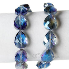 Blue AB Finish Faceted Wholesale Teardrop Crystal Beads 18x13mm - G1370