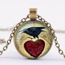 Raven Necklace Raven Jewelry Bird Nest Pendant Wearabel Art Raven bronze