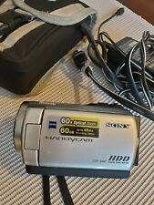 Sony DCR-SR47 60 GB Camcorder-Blue w/ Battery and Charger Tested Working