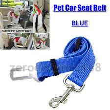 Blue Adjustable Dog Pet Car Safety Seat Belt Harness Travel Lead Vehicle Puppy