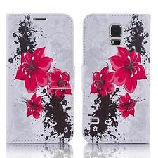 Book Handy Tasche Samsung Galaxy S5 Sm-g900f Cover Schutz hülle Etui Case 119