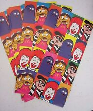 Vintage McDonalds Sticker Sheets (4) Ronald Grimace Hamburglar Birdie Early Bird