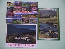 3 IRISH POSTCARDS 'IRELAND' (1990s) USED