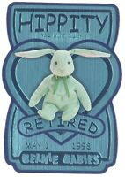 TY Beanie Babies BBOC Card - Series 3 Retired (TEAL) - HIPPITY the Mint Bunny