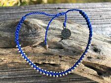 - Boho Hippie Beach Cruelty Free Blue Studded Surfer Waterproof Vegan Bracelet