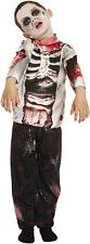 Zombie Boy Walking Dead Skeleton Halloween Fancy Dress Costume Age 10-12 V00 261
