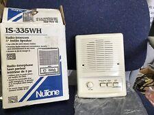 """NuTone IS-335A Radio intercom 5"""" Inside Speaker"""