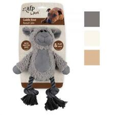 All for Paws AFP Lamb CUDDLE KNOT Rope Tugger Tug Plush Squeaky Dog Puppy Toy