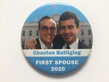 """2020 First Spouse Chasten Buttigieg 3"""" Button Mayor Pete Buttigieg for President"""