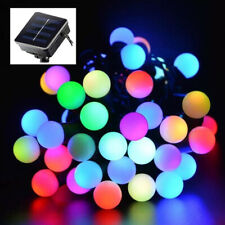 Outdoor 20ft 50 LED Solar String Ball Lights Waterproof Colorful Garden Decor