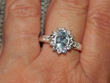 SKY BLUE TOPAZ & NATURAL CAMBODIAN ZIRCON RING-SIZE Q-2.500 CARATS