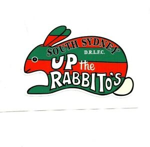 UP THE RABBITO'S Decal Sticker SOUTH SYDNEY nrl rugby league FOOTBALL