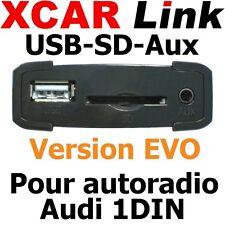 XCARLink USB-SD EVO pour AUDI A2,A3,A4,A6,A8,TT Radio 1DIN