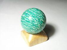 "AMAZONITE sphere ball w/stand Kola Peninsula Russia 42.1mm(1.66"") 98grams(3.46oz"